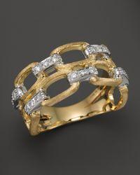 Marco Bicego Metallic Murano 18k Yellow Gold Ring With Diamonds