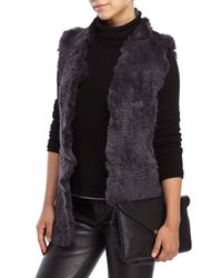 Love Token | Gray Sofia Real Rabbit Fur Vest | Lyst