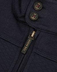 Ted Baker | Blue Quilted Funnel Neck Jacket for Men | Lyst