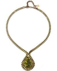 DANNIJO | Green Rita Necklace | Lyst