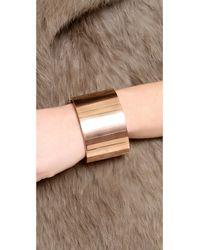 Michael Kors   Metallic Wide Bangle Bracelet Rose Gold   Lyst