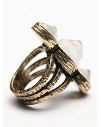 Free People | Metallic Senna Crystal Ring | Lyst