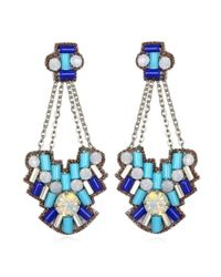 Suzanna Dai | Blue Aegean Chandelier Earrings, Cobalt/turquoise | Lyst