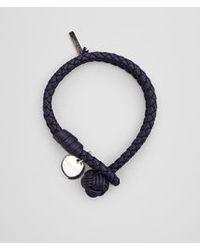Bottega Veneta - Blue Bracelet In Atlantic Intrecciato Nappa - Lyst