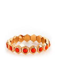 Henri Bendel - Red Hex Stretch Bracelet - Lyst