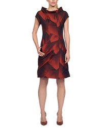 James Lakeland | Red Geometric Taffeta Dress | Lyst