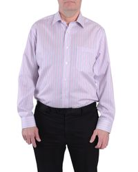 Double Two | Pink Stripe Classic Fit Classic Collar Formal Shirt for Men | Lyst