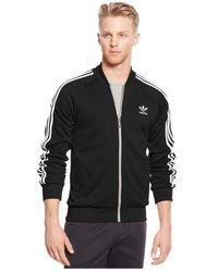 Adidas Black Full-zip Track Jacket for men