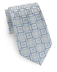 Burma Bibas | Blue Box Medallion Silk Tie for Men | Lyst