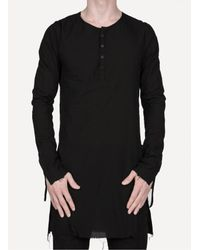 Cedric Jacquemyn - Black Front-split Tunic Shirt for Men - Lyst