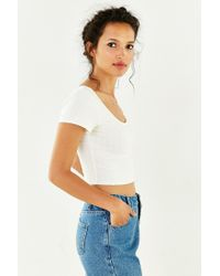 Silence + Noise - White Christina Cropped Top - Lyst