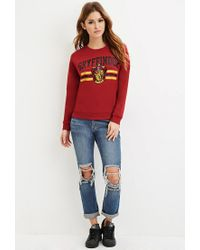Forever 21 - Purple Gryffindor Graphic Sweatshirt - Lyst