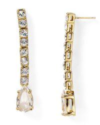 kate spade new york | Metallic Draped Jewels Linear Drop Earrings | Lyst