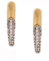 Rachel Zoe | Metallic Pave Claw Stud Earring | Lyst