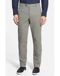 Ted Baker - Natural 'brewer' Slim Fit Trousers for Men - Lyst