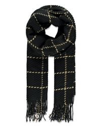 Forever 21 - Black Fringed Grid-patterned Scarf You've Been Added To The Waitlist - Lyst