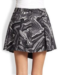 Robert Rodriguez Black Marbled Warrior Skirt