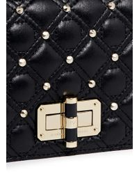 Diane von Furstenberg - Black '440 Gallery Bellini' Quilted Leather Stud Crossbody Bag - Lyst