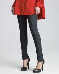 Donna Karan - Black Stretch Cotton Leggings 8 - Lyst