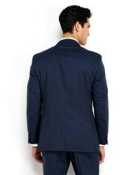 Tommy Hilfiger - Blue Trim Fit Broken Stripe Suit for Men - Lyst