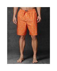 Polo Ralph Lauren - Orange Allover Pony Sleep Short for Men - Lyst