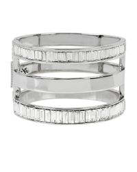 Kenneth Cole | Metallic Sparkled Baguette Cut-out Bracelet | Lyst