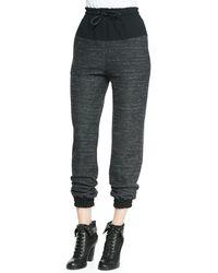 Rag & Bone - Black Owen Solid-top Melange Sweatpants - Lyst