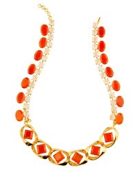 Bounkit | Red Carnelian & Moonstone Necklace | Lyst