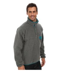 Patagonia - Gray Lightweight Synchilla® Snap-T® Fleece Pullover for Men - Lyst