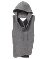 Alternative Apparel | Gray Exhale Hoodie | Lyst