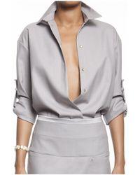 Alexandre Vauthier | Gray Versatile Sleeve Shirt | Lyst