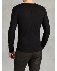 John Varvatos - Black Modal Wool Crewneck for Men - Lyst
