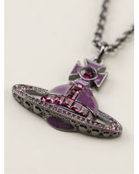 Vivienne Westwood | Purple 'bas Relief' Crystal Necklace | Lyst