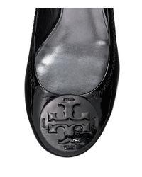 Tory Burch - Black Reva Patent Ballet Flats - Lyst
