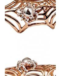 Bernard Delettrez | Metallic Bronze Web Ring | Lyst