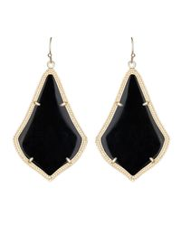 Kendra Scott | Black Alex Earring | Lyst