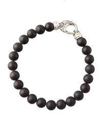 Stephen Webster | Black Beaded Onyx Bracelet for Men | Lyst