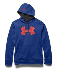 Under Armour | Blue Fleece Logo Hoodie for Men | Lyst