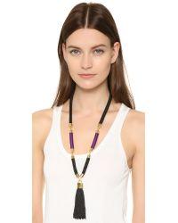 Holst + Lee - Purple Tao Tassel Violet Necklace - Lyst