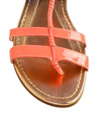 Opening Ceremony | Orange Cabana Patent Leather suede Tstrap Sandals | Lyst