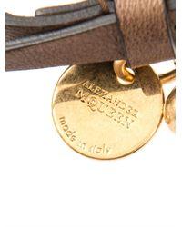Alexander McQueen | Brown Leather Wrap Bracelet for Men | Lyst