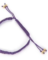 Juicy Couture | Purple Pave Diamond Macrame Bracelet | Lyst