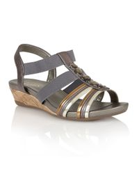 Lotus | Metallic Joda Open Toe Sandals | Lyst