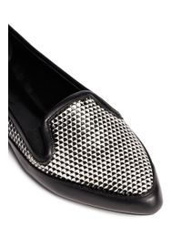 Proenza Schouler - Metallic Geometric Effect Leather Slip-ons - Lyst