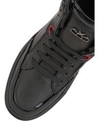 Royaums | Black 2andmade Leather High Top Sneakers | Lyst