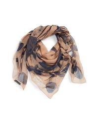Alexander McQueen | Natural 'Nest Of Roses' Scarf | Lyst
