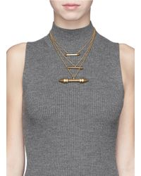 Ela Stone - Metallic 'rocca' Arrow Spike Tier Necklace - Lyst