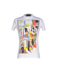 DSquared² | White T-shirt for Men | Lyst
