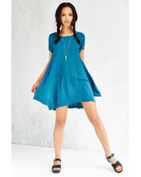 Silence + Noise - Blue Witchy T-shirt Dress - Lyst