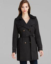 DKNY Black Abby Hooded Trench Coat